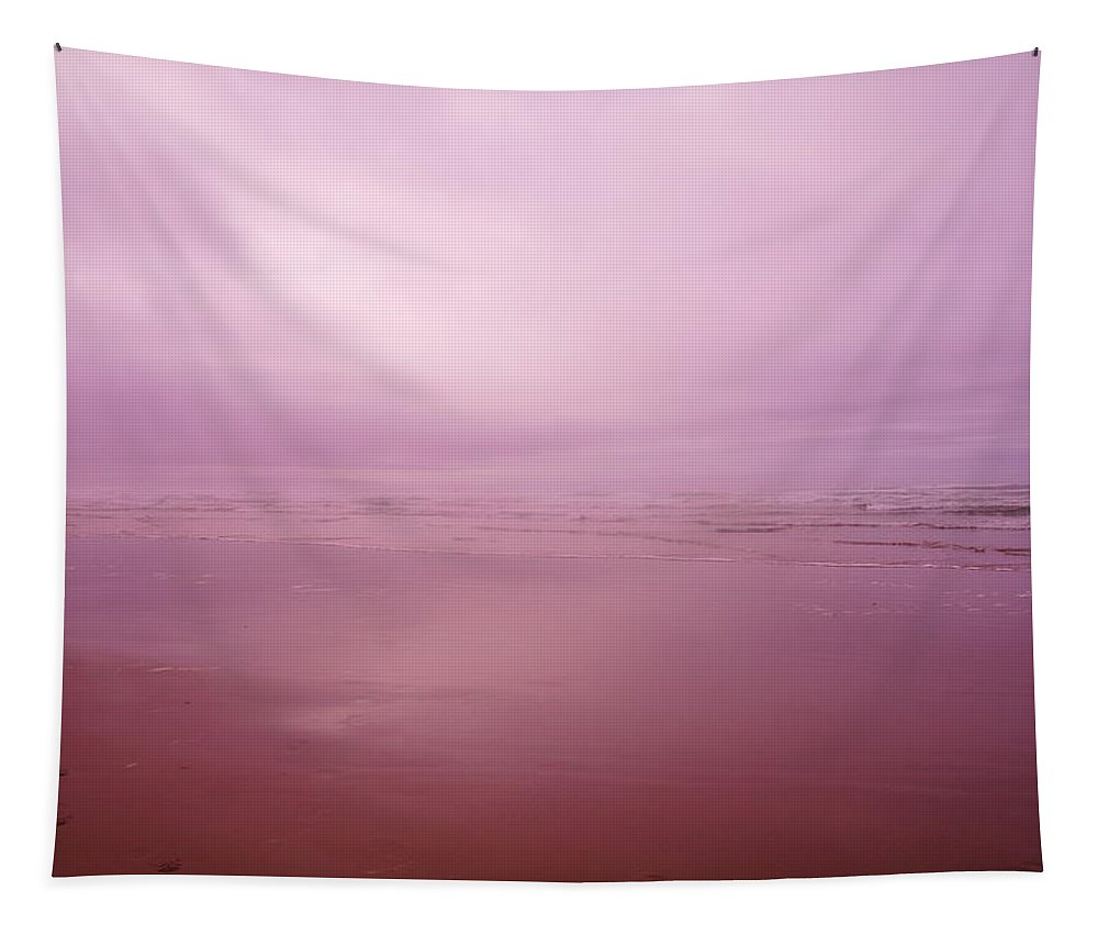 Ocean Tapestry featuring the photograph Misty Ocean by Jeff Swan