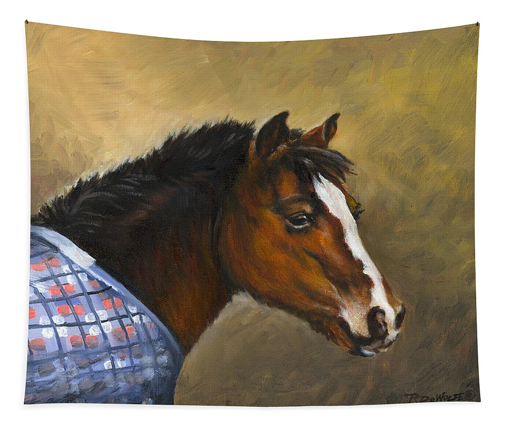 Pony Tapestry featuring the painting Misty by Richard De Wolfe