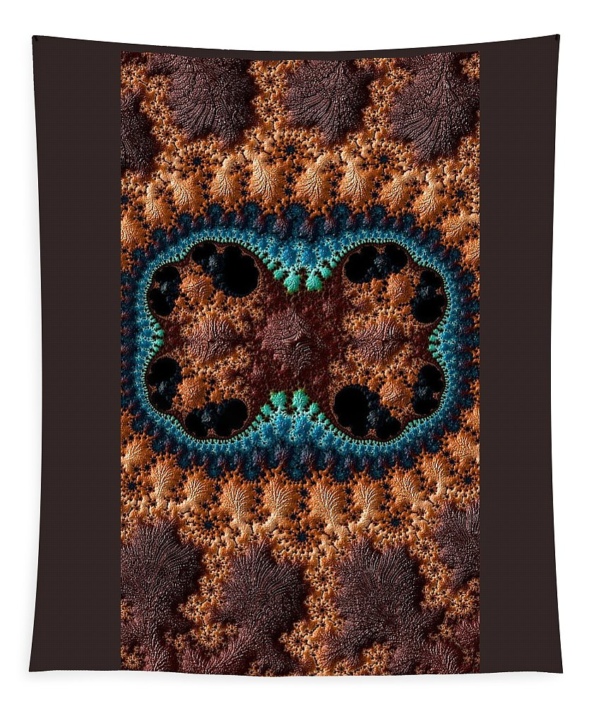 fractal Art abstract Art Abstract Fractals abstract Photography phone Cases Abstract Mitosis microscopic Photography Biology biology Photography greeting Cards digital Art Tapestry featuring the photograph Mitosis - Cards And Phone Cases by Bill Owen
