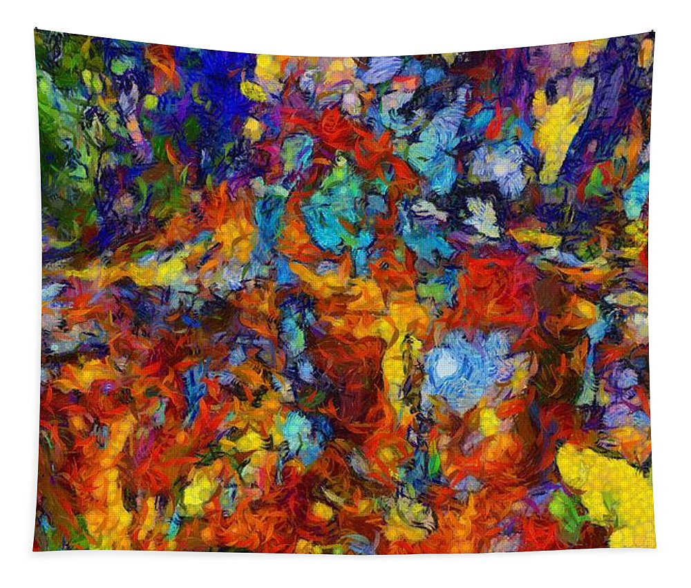 Mixed Emotions Tapestry featuring the painting Mixed Emotions by Dan Sproul