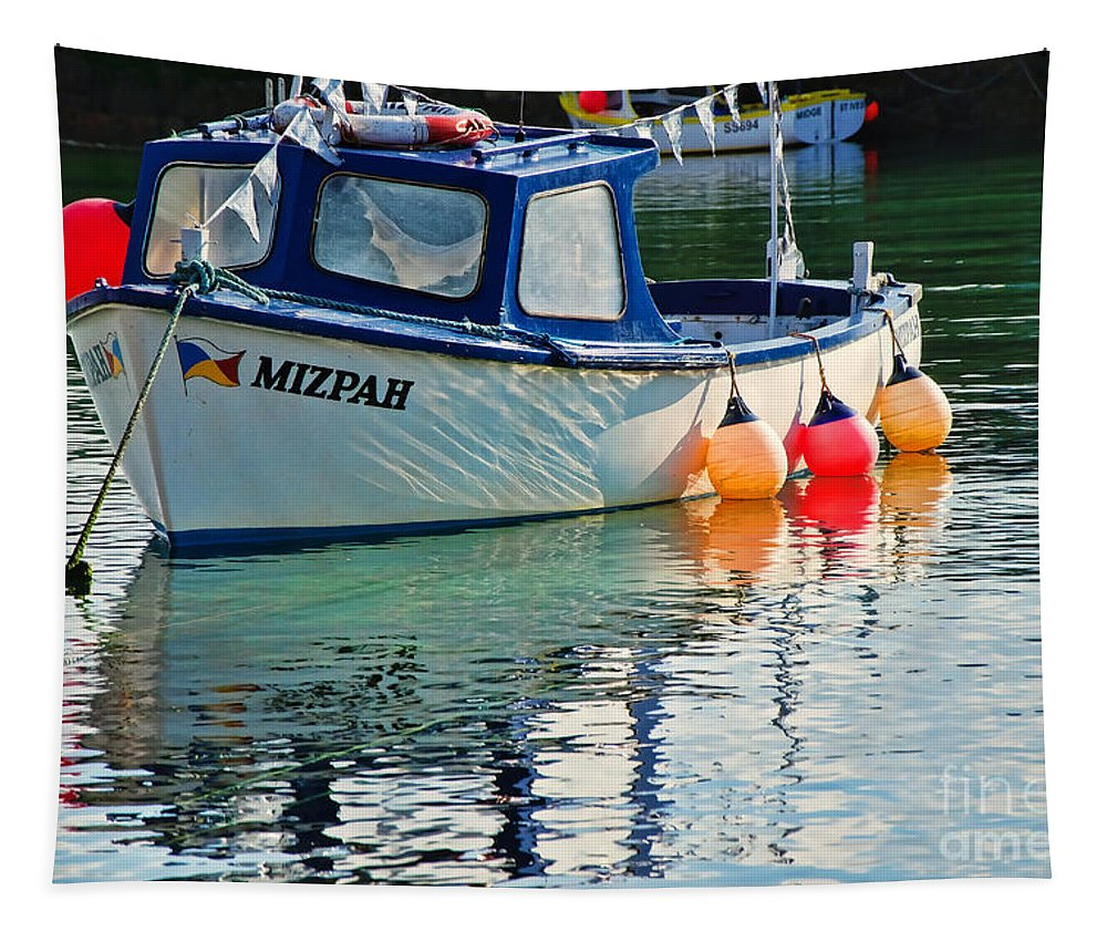 Mousehole Harbour Tapestry featuring the photograph Mizpah by Susie Peek