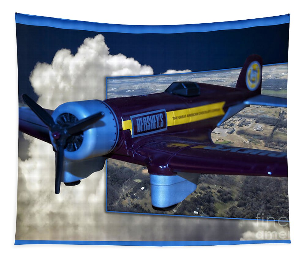Out Of Bounds Tapestry featuring the photograph Model Planes Hershey 01 by Thomas Woolworth