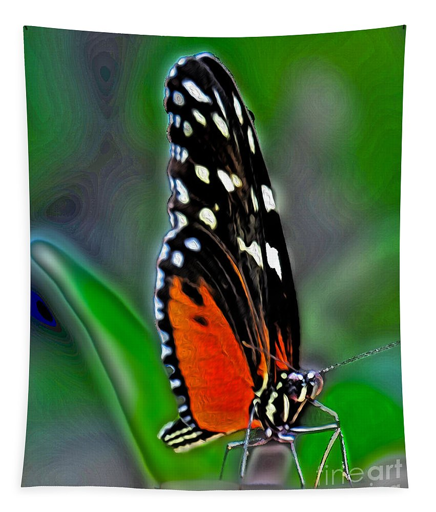 Wildlife Tapestry featuring the photograph Monarch Butterfly by Dawn Gari