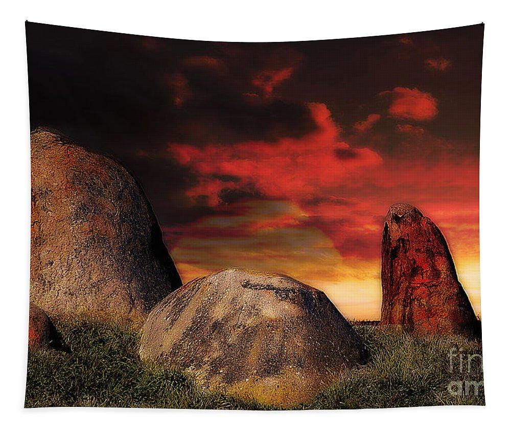 Landscape Tapestry featuring the photograph Monatgue Island by Ben Yassa