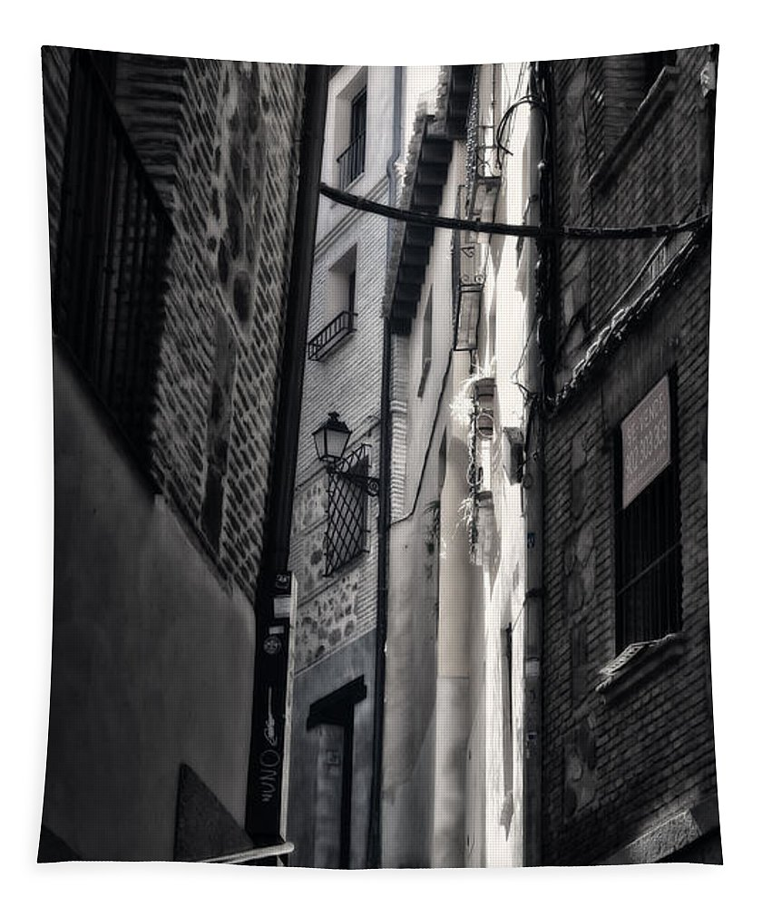 Alley Tapestry featuring the photograph Monday Monday by Joan Carroll