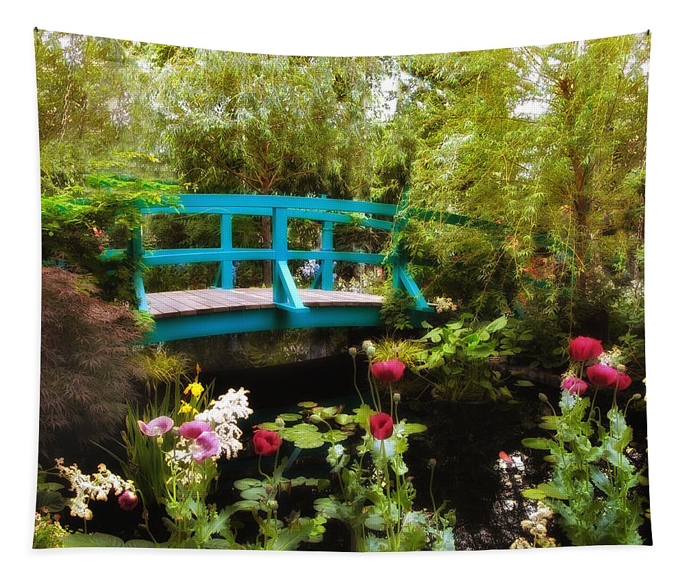 Garden Tapestry featuring the photograph Monet's Garden by Jessica Jenney