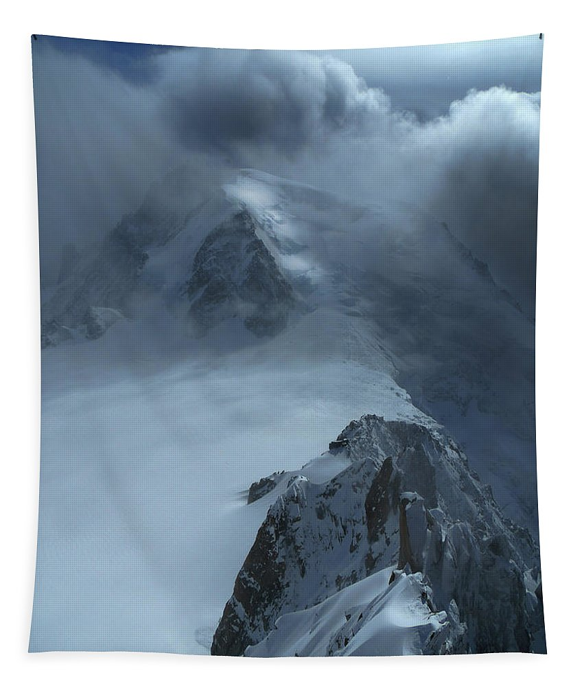 Chamonix Tapestry featuring the photograph Mont Blanc Storm by Frank Wilson