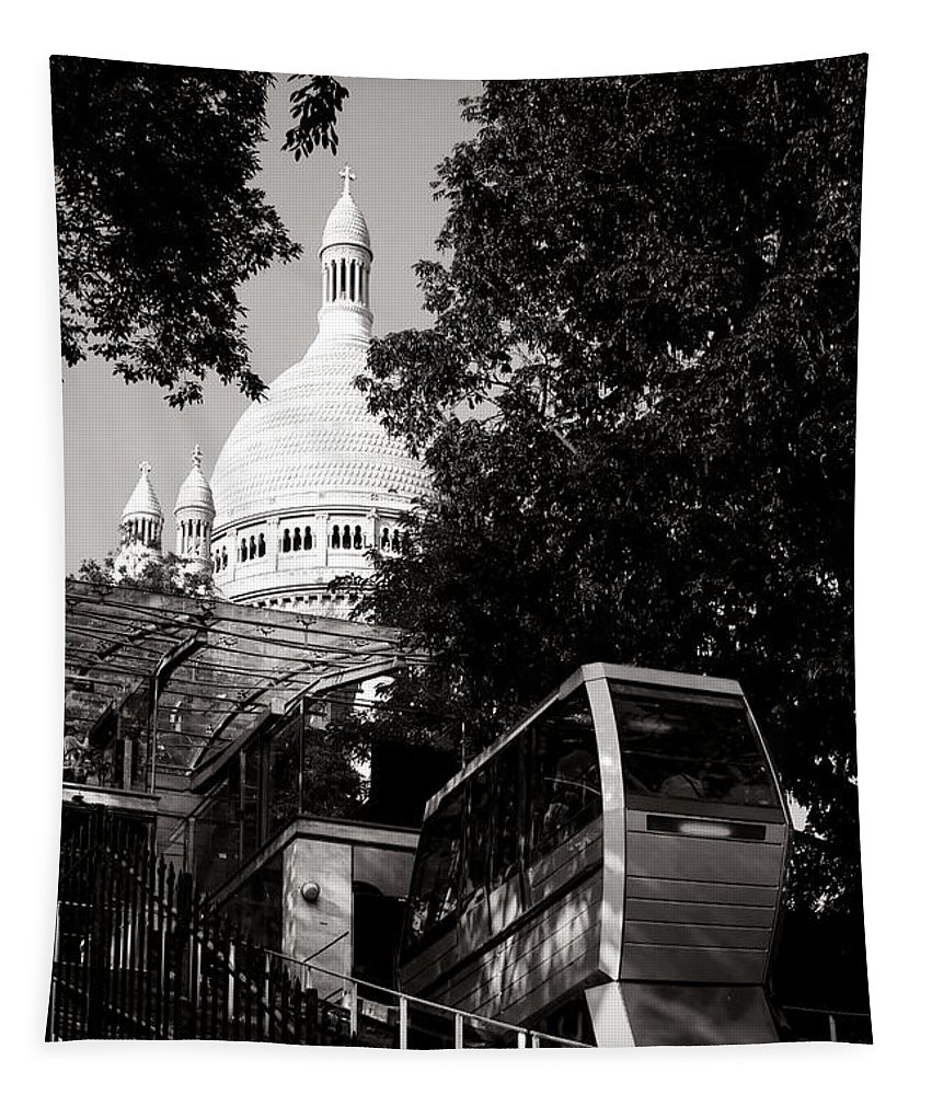 Montmartre Tapestry featuring the photograph Montmartre Funicular by Olivier Le Queinec