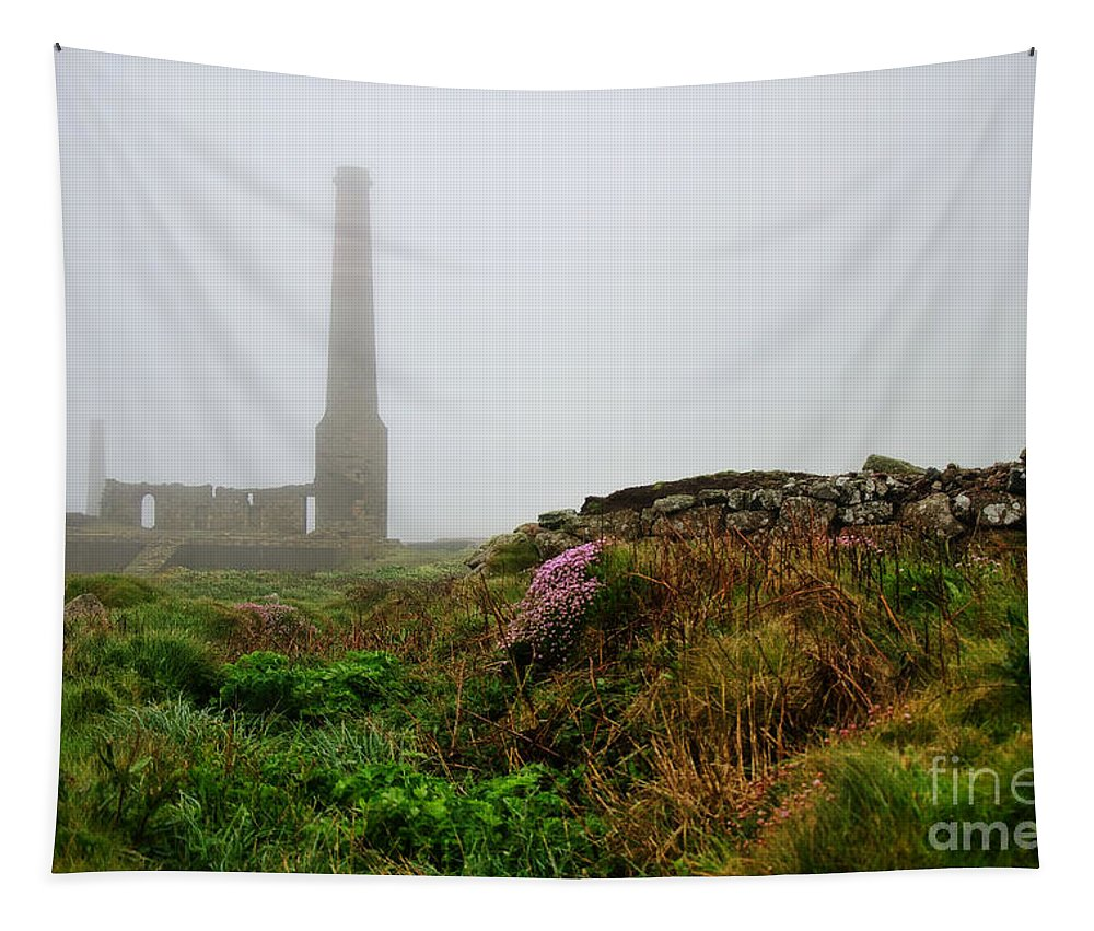 Levant Tapestry featuring the photograph Moody Cornwall by Susie Peek