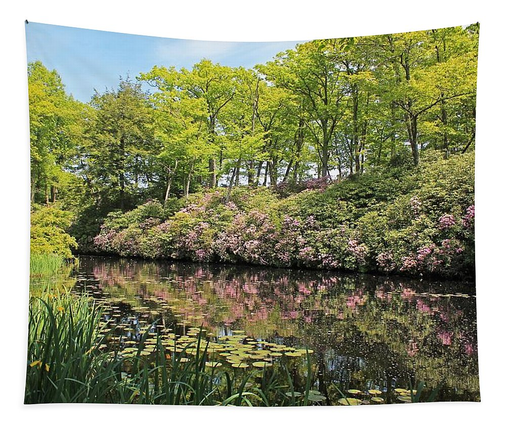 Moore State Park Tapestry featuring the photograph Moore State Park Water Reflections by Michael Saunders