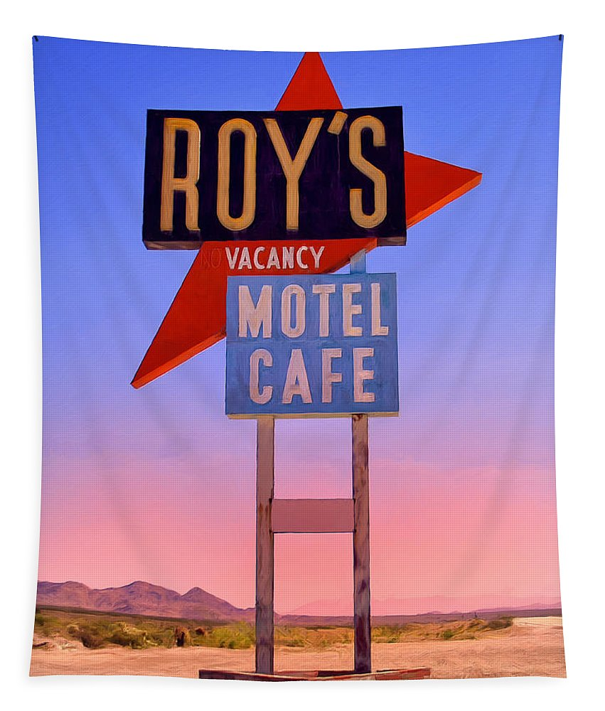 Roy's Tapestry featuring the painting Morning At The Edge Of Nowhere by Dominic Piperata