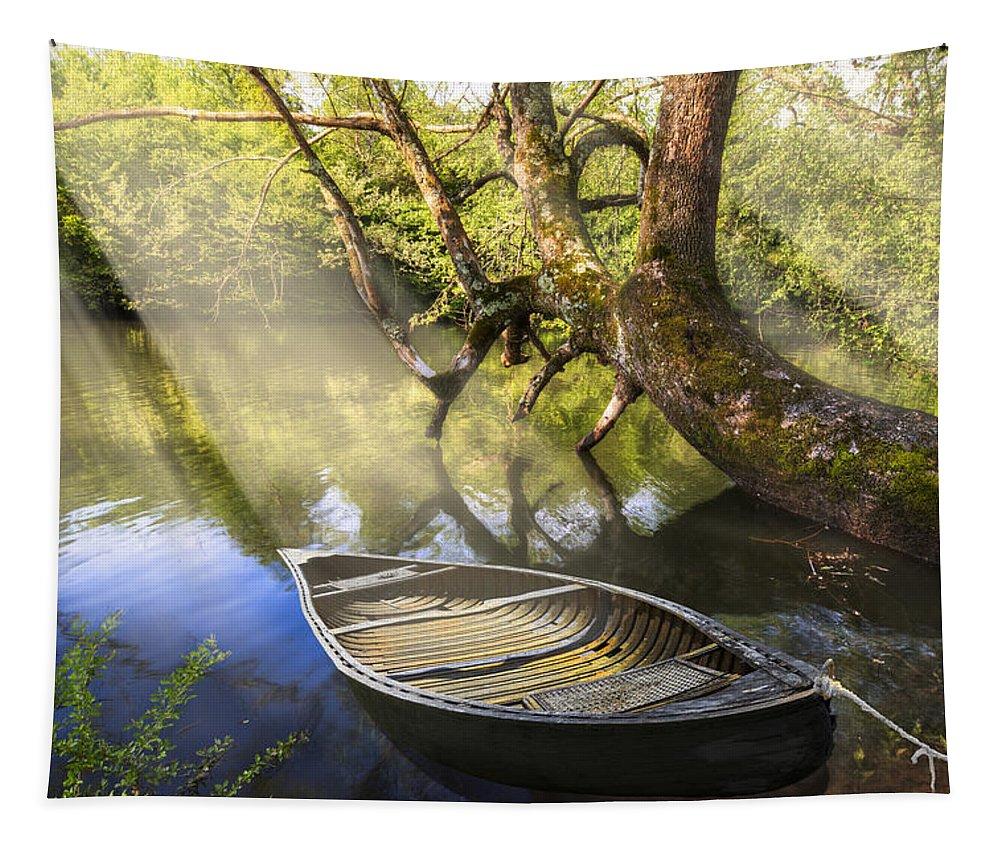 Appalachia Tapestry featuring the photograph Morning Mists by Debra and Dave Vanderlaan