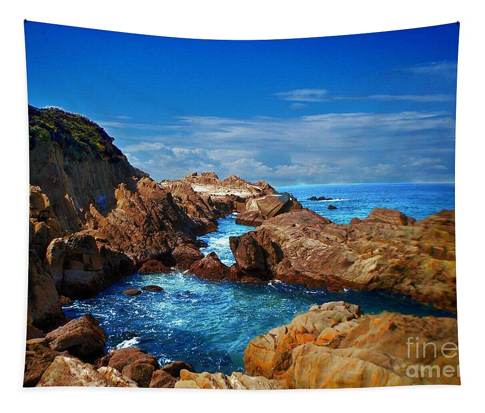 Seascape Tapestry featuring the photograph Moruya Heads by Ben Yassa