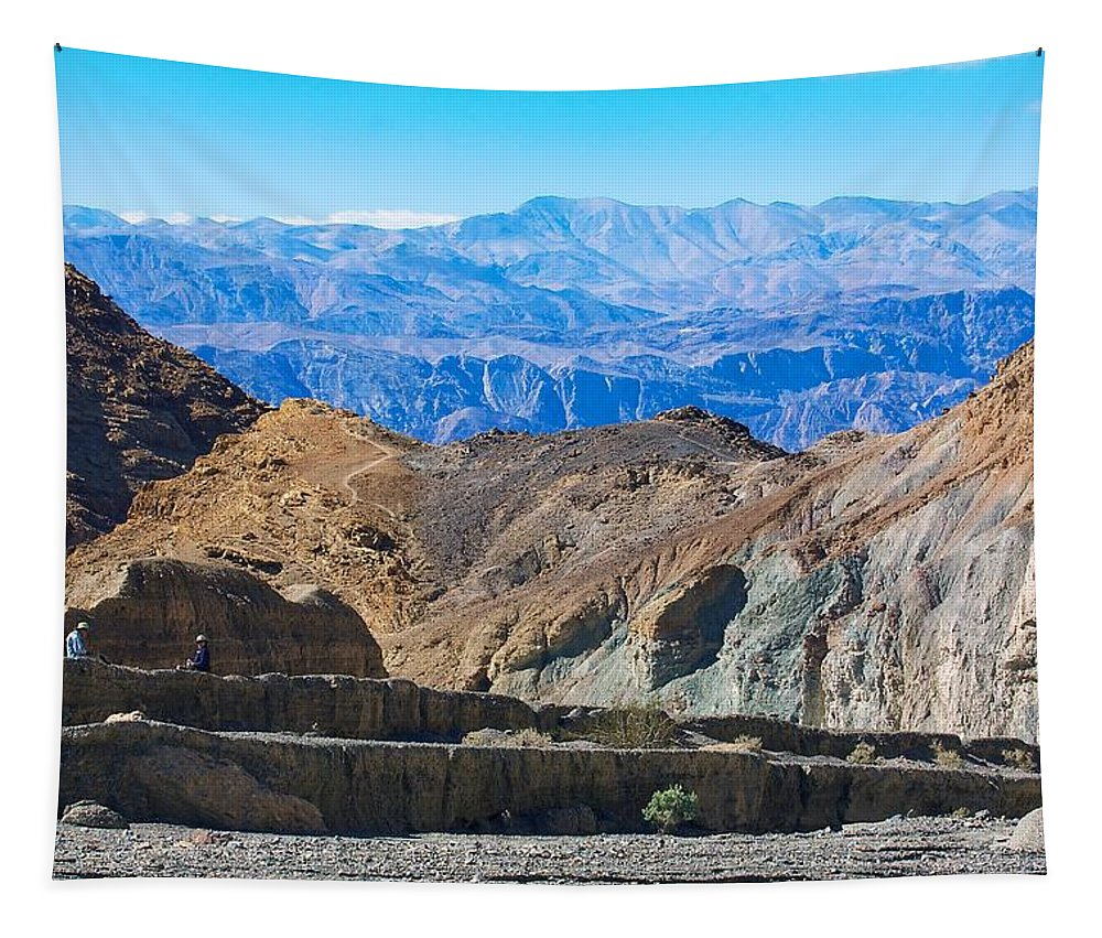 California Tapestry featuring the photograph Mosaic Canyon Picnic by Stuart Litoff