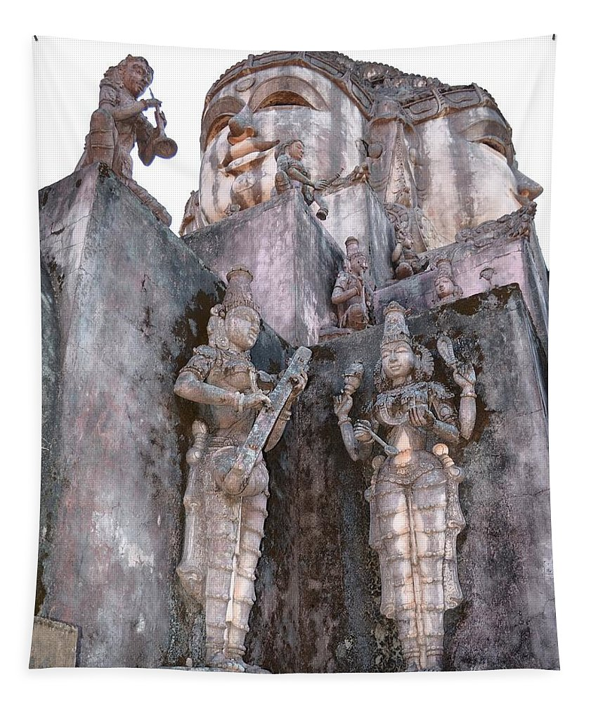 Landscape Tapestry featuring the photograph Mother Divine Temple - Amarkantak India by Kim Bemis