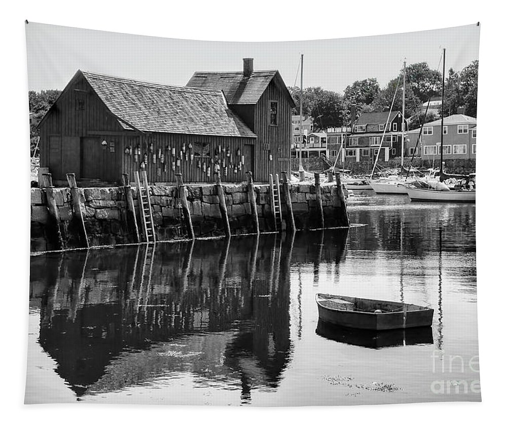Massachusetts Tapestry featuring the photograph Motif 1 - Bw by Nikolyn McDonald