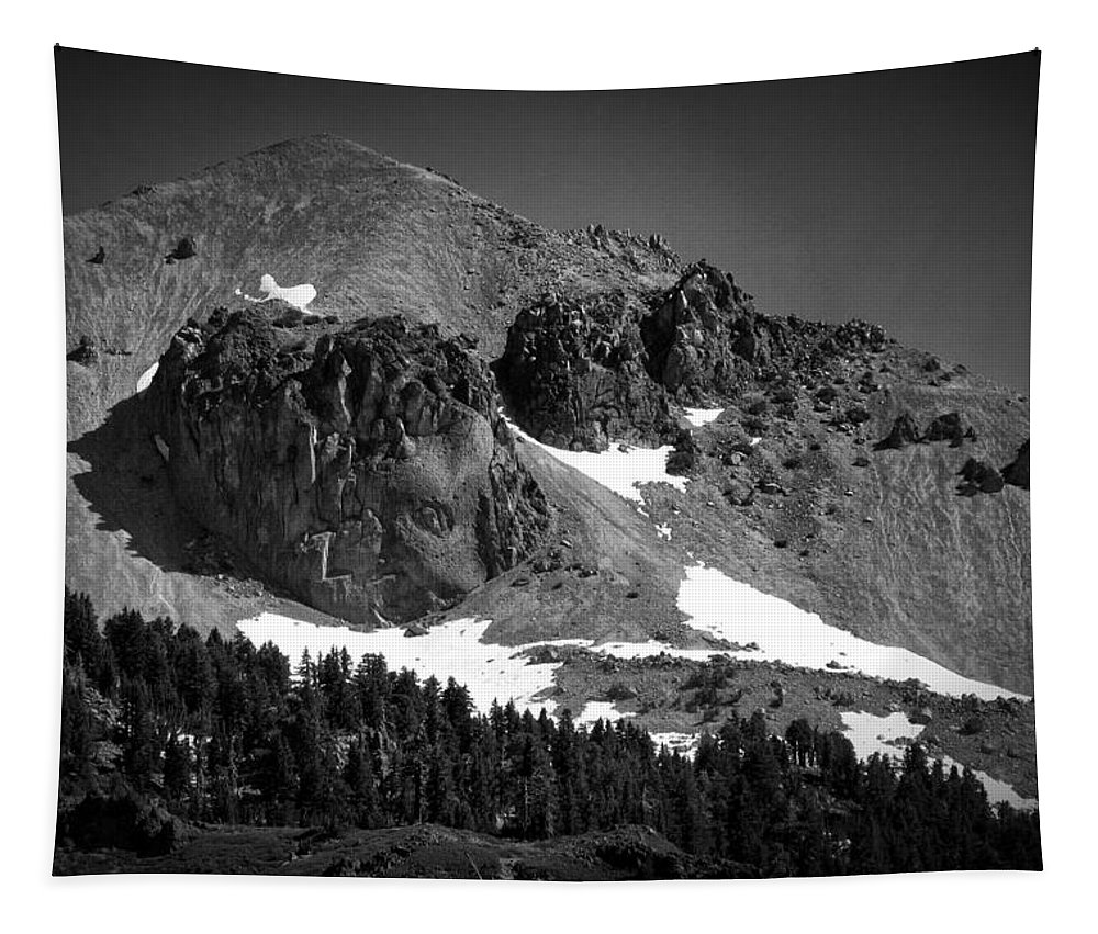 Mountain Tapestry featuring the photograph Mount Lassen by Mary Lane