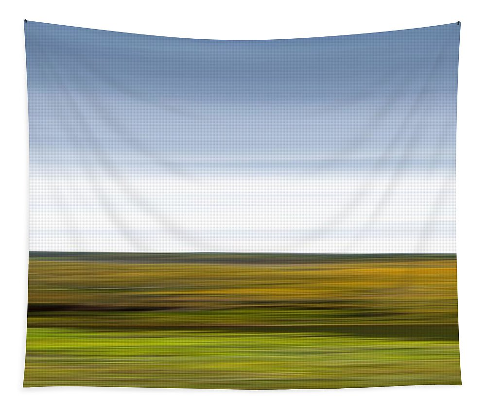 Abstract Tapestry featuring the photograph Mountain Valley Abstract by Mark Andrew Thomas