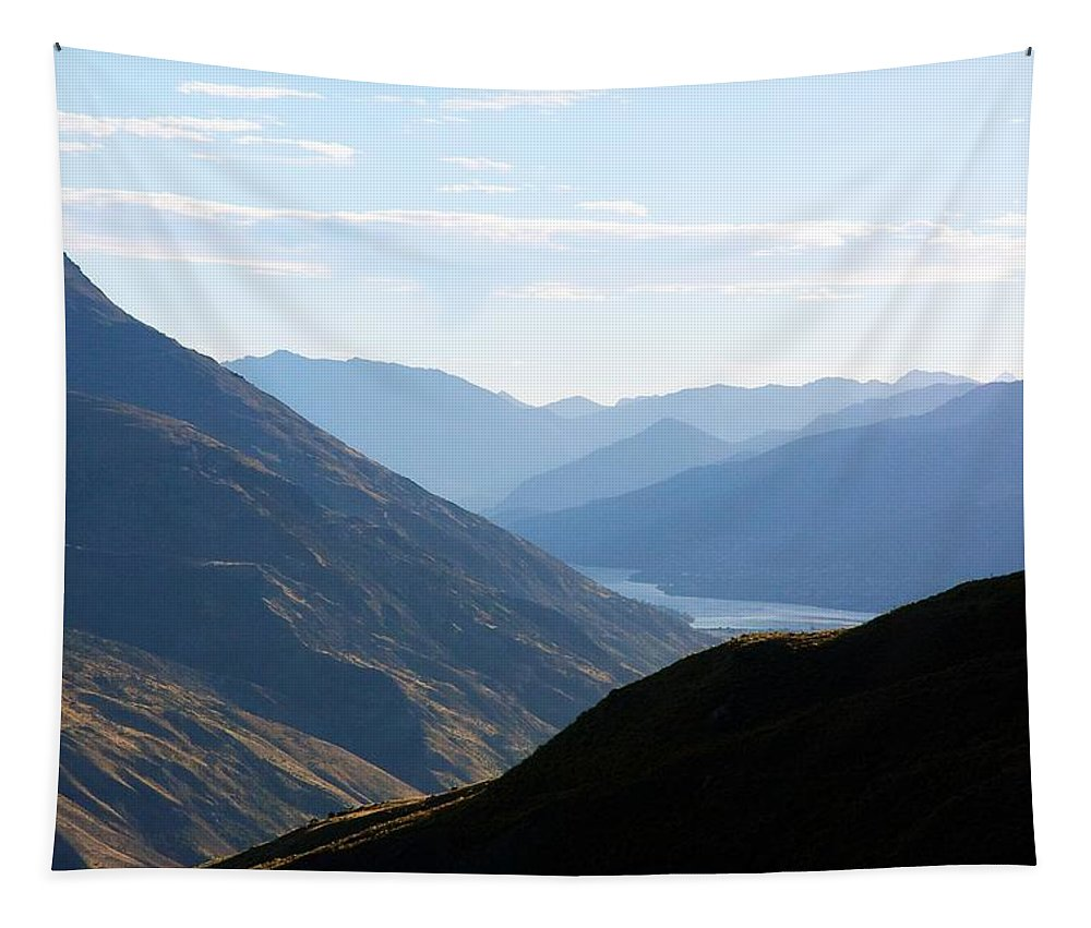 New Tapestry featuring the photograph Mountains Meet Lake #3 by Stuart Litoff