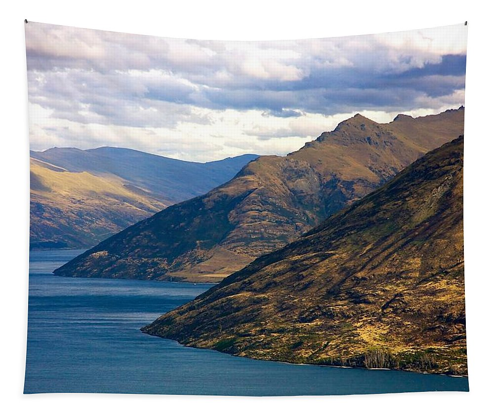 New Tapestry featuring the photograph Mountains Meet Lake by Stuart Litoff