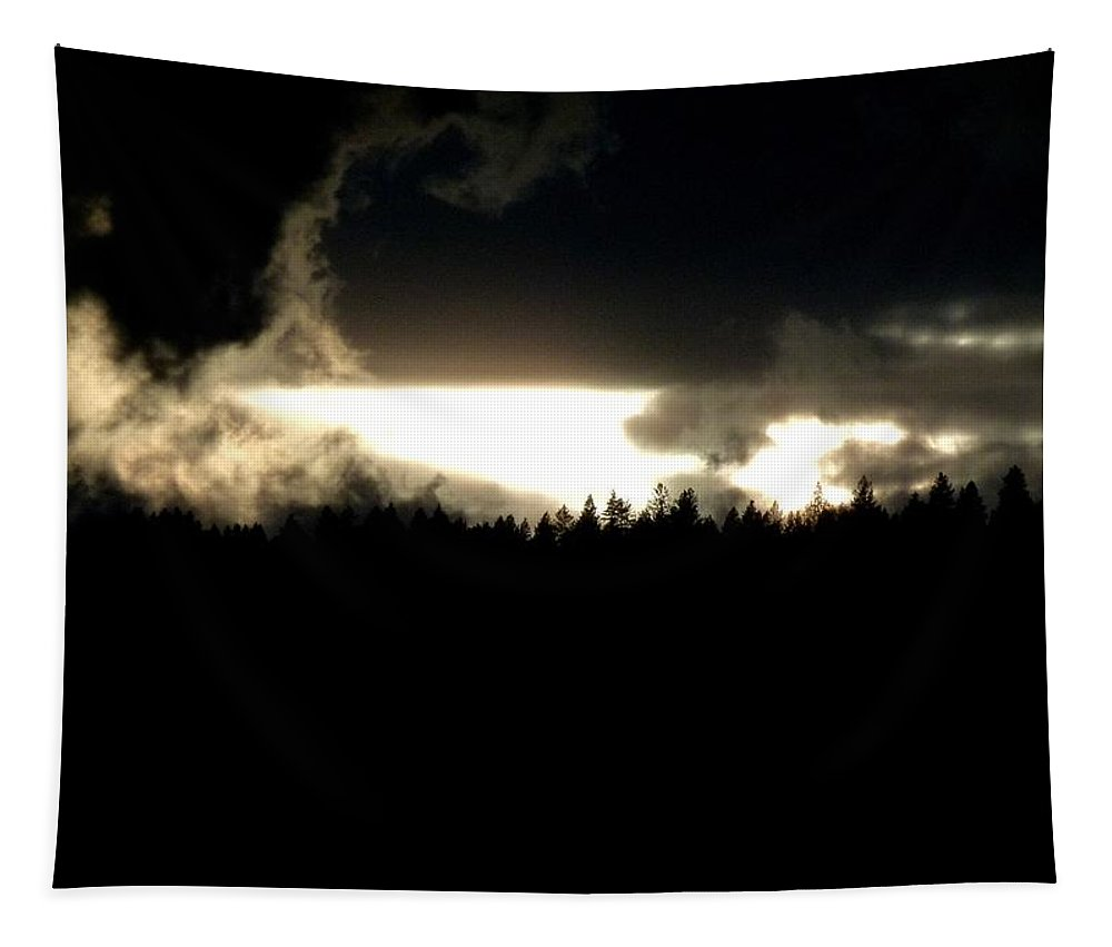 Mountaintop Drama Tapestry featuring the photograph Mountaintop Drama by Will Borden