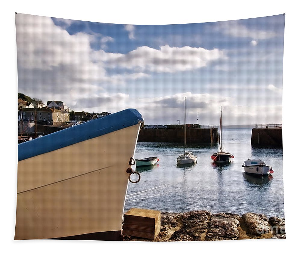 Mousehole Tapestry featuring the photograph Mousehole Harbour On A May Morning by Susie Peek