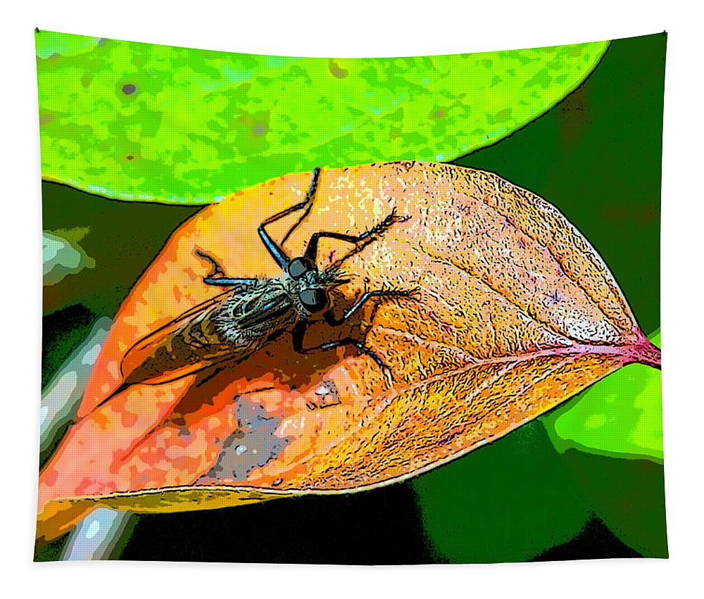 Insect Tapestry featuring the photograph Mr. Big Eyes by Robert Storost