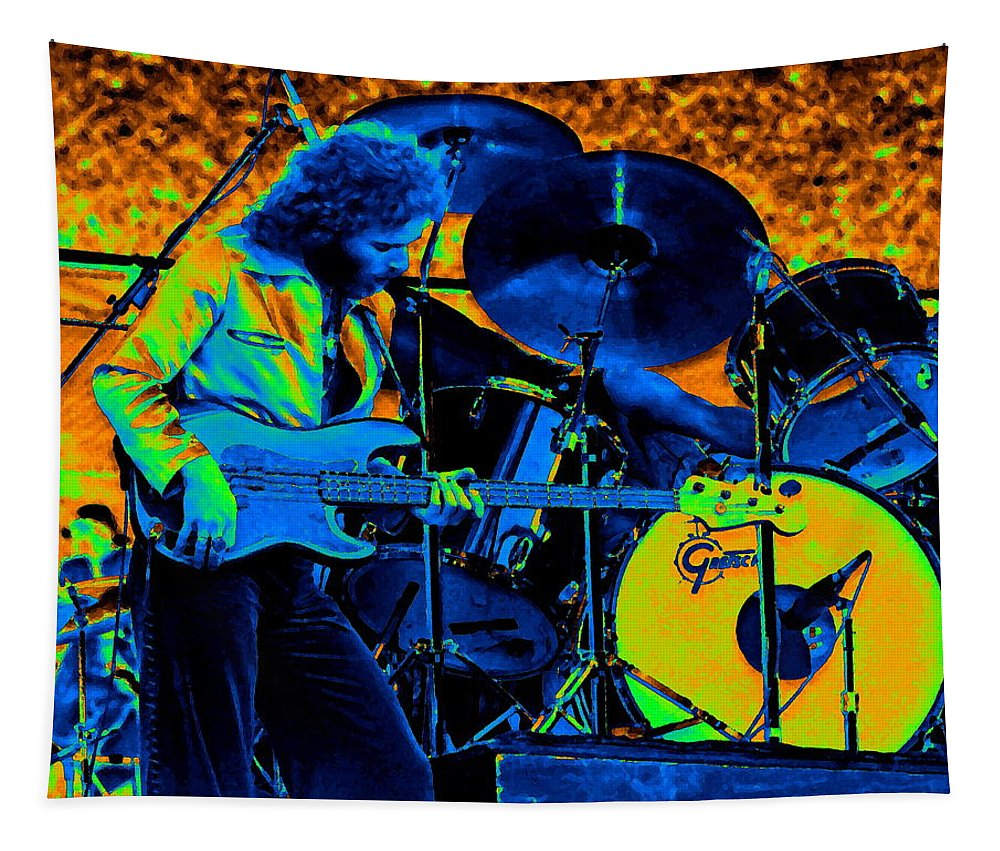 Paul Harwood Tapestry featuring the photograph Mrdog #40 In Cosmicolors by Ben Upham
