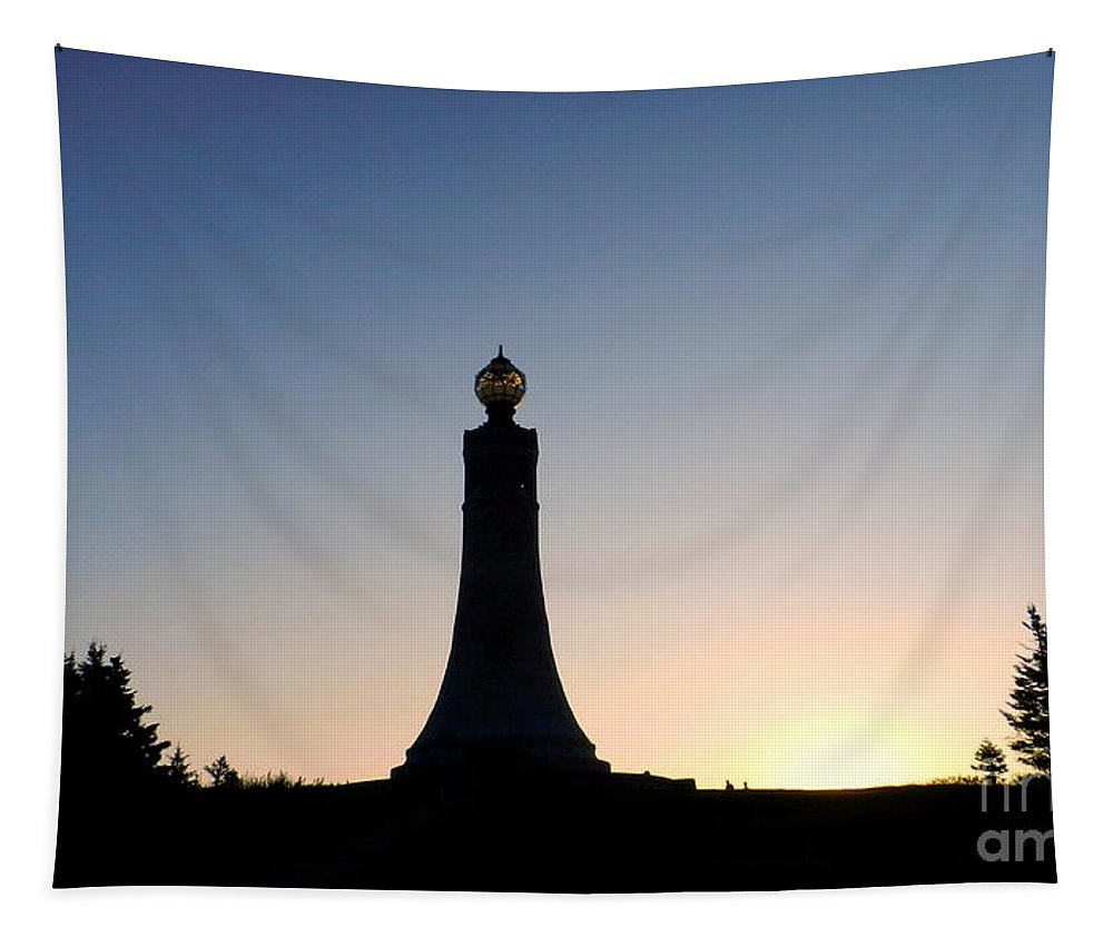 Art Tapestry featuring the photograph Mt Greylock War Memorial Tower by Linda Galok