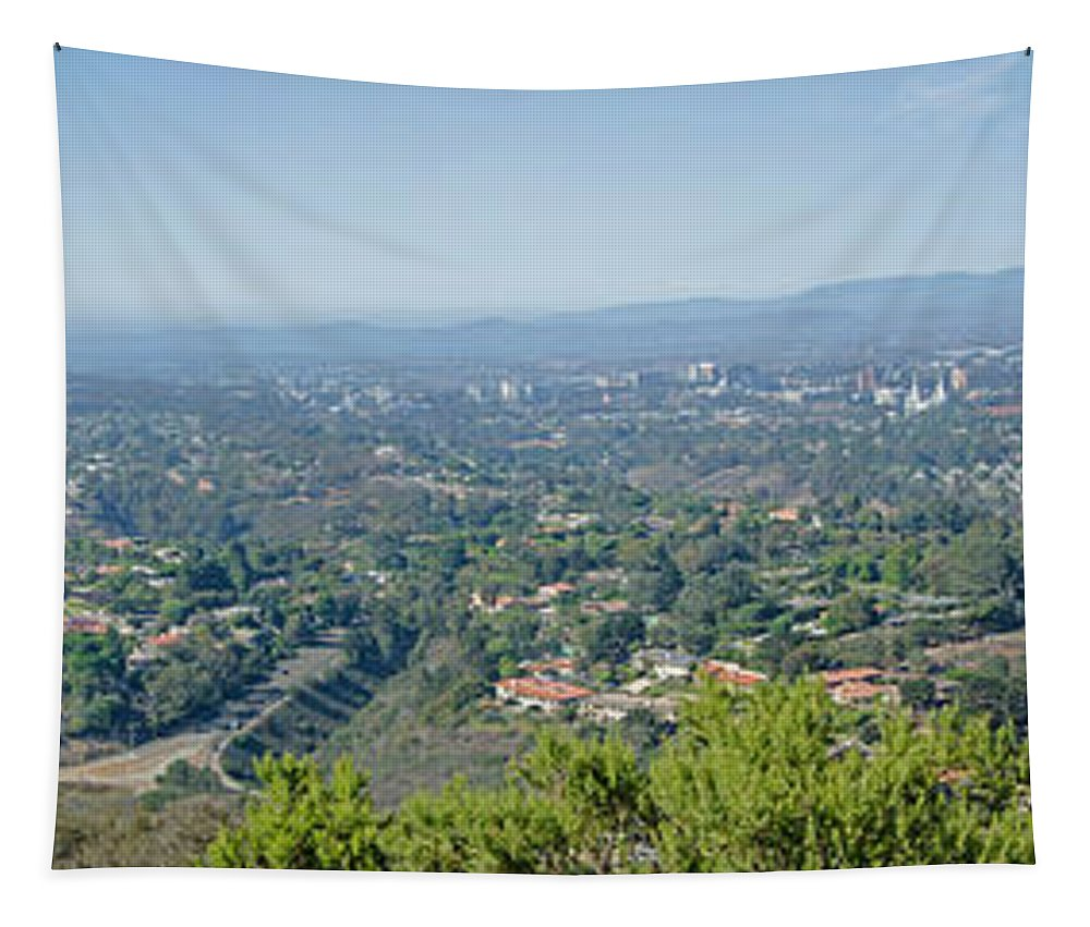 Mt. Soledad - View To The North Tapestry featuring the photograph Mt. Soledad - View To The North by Susan McMenamin