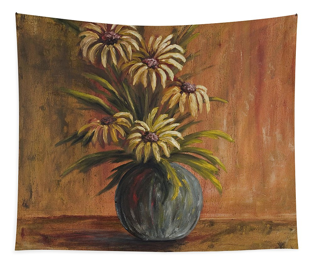 Mums For Mom Tapestry featuring the painting Mums For Mom by Darice Machel McGuire
