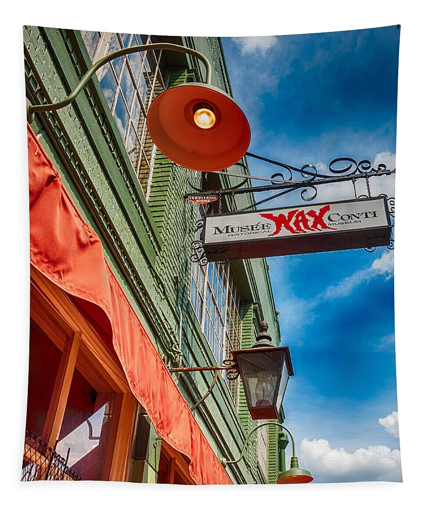 French Quarter Tapestry featuring the photograph Musee Conti - Wax Museum 2 by Kathleen K Parker
