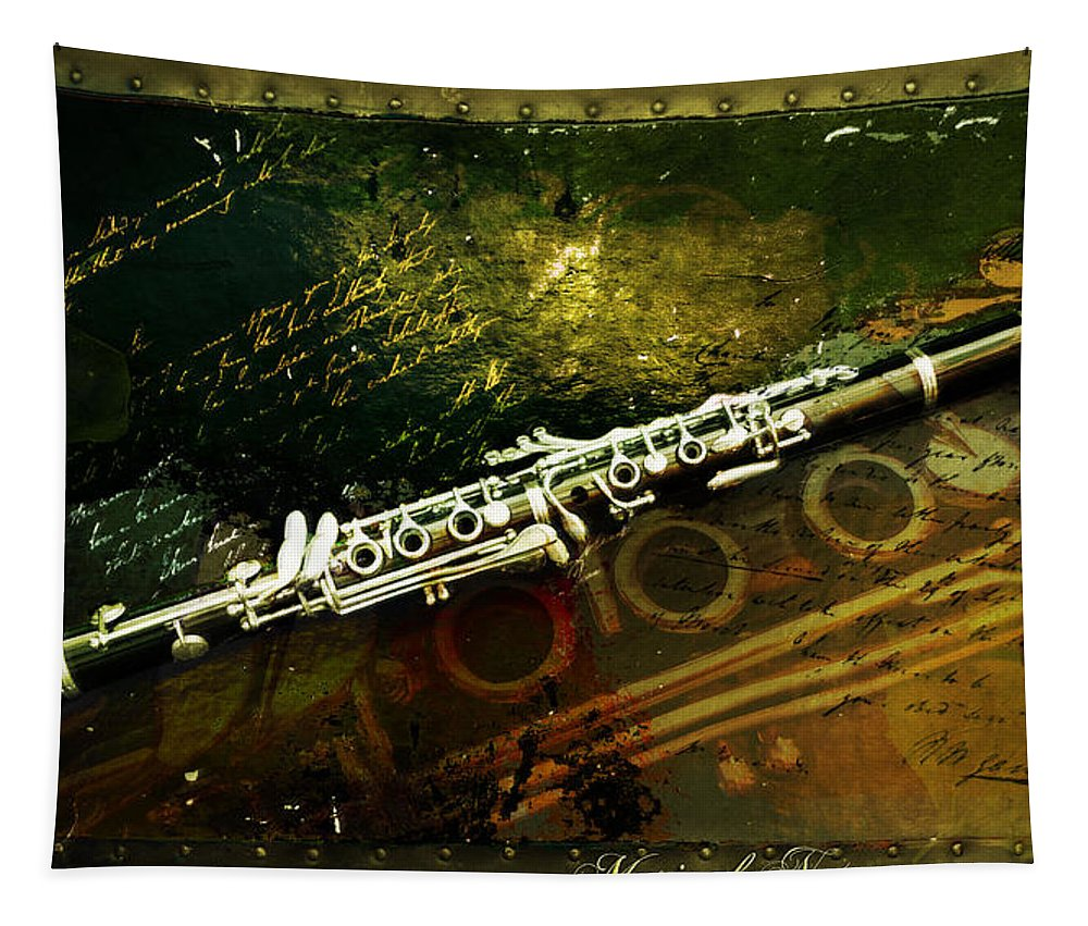 Clarinet Tapestry featuring the photograph Musical Notes by John Anderson