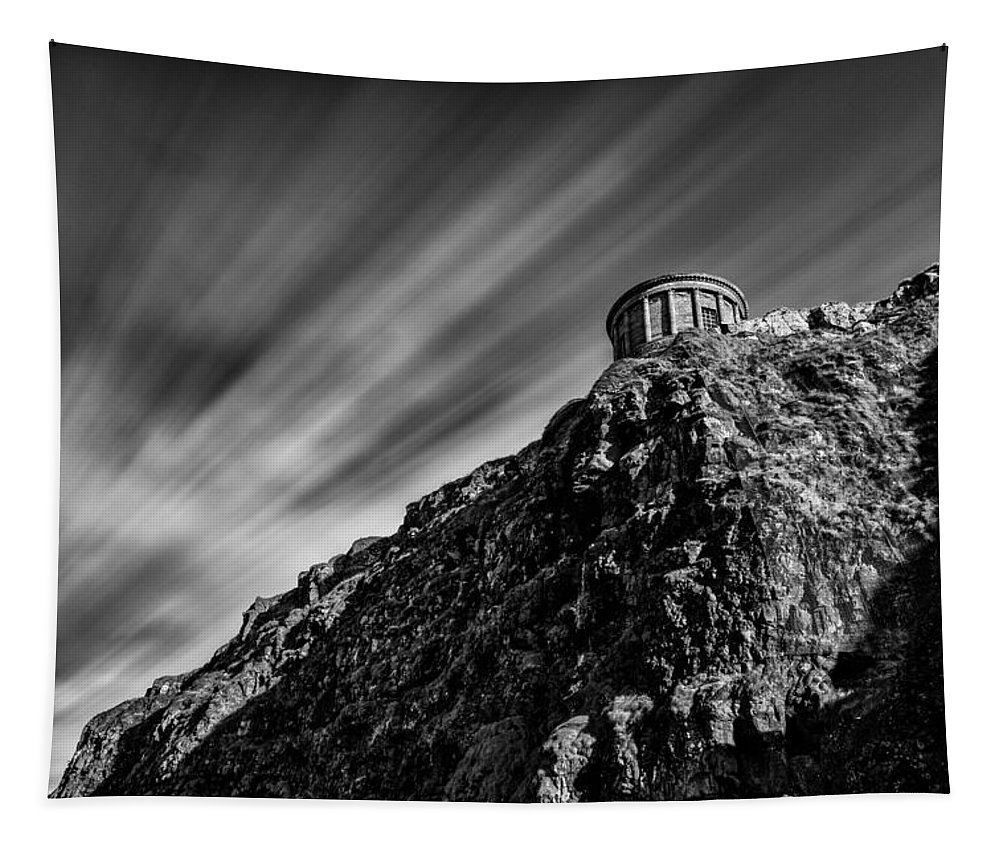 Ireland Tapestry featuring the photograph Mussenden Temple - On The Edge by Nigel R Bell