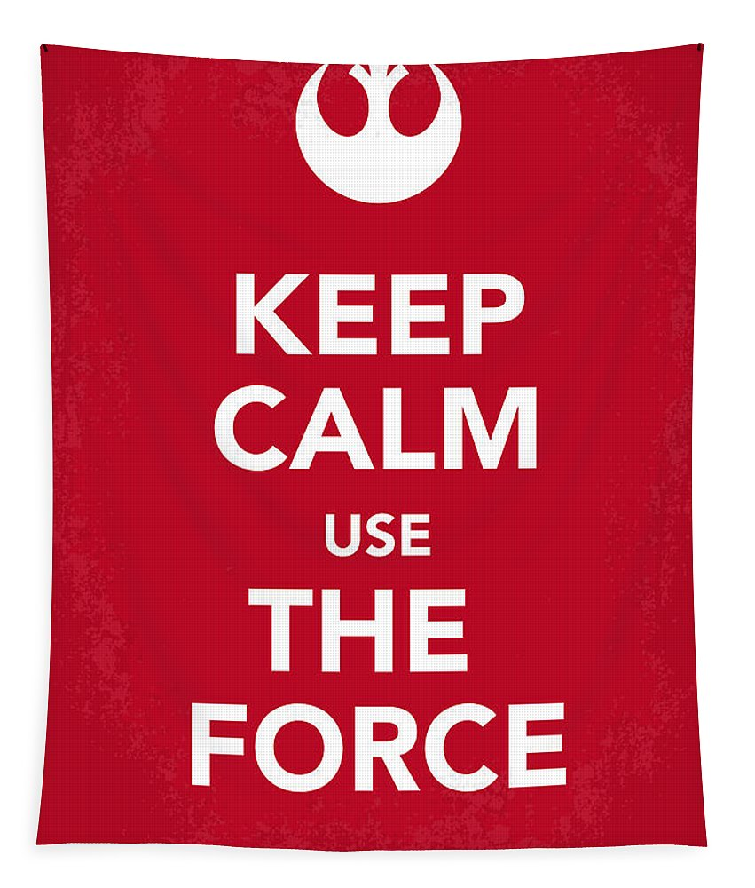 Star Tapestry featuring the digital art My Keep Calm Star Wars - Rebel Alliance-poster by Chungkong Art