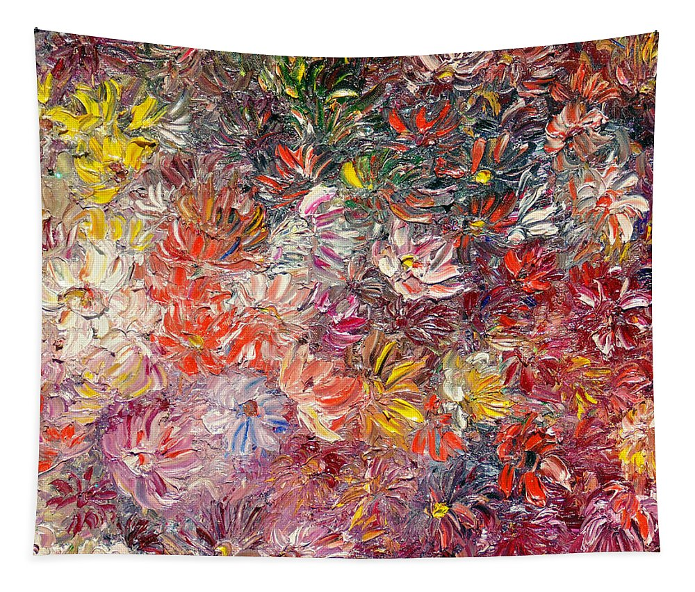 Abstract Tapestry featuring the painting My Pretty Pallet by Karin Dawn Kelshall- Best