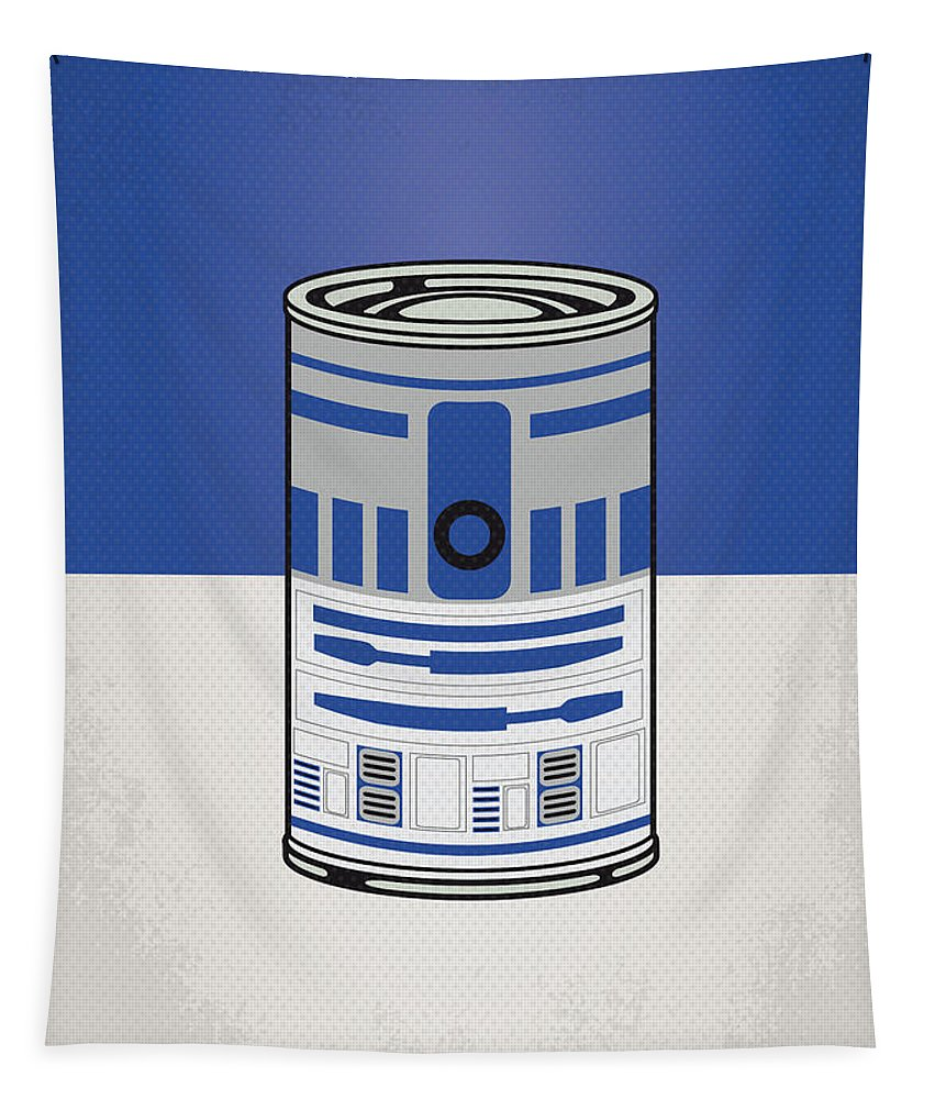 Star Tapestry featuring the digital art My Star Warhols R2d2 Minimal Can Poster by Chungkong Art