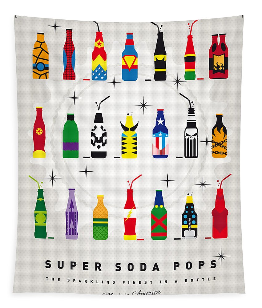 Icepops Tapestry featuring the digital art My SUPER SODA POPS No-00 by Chungkong Art