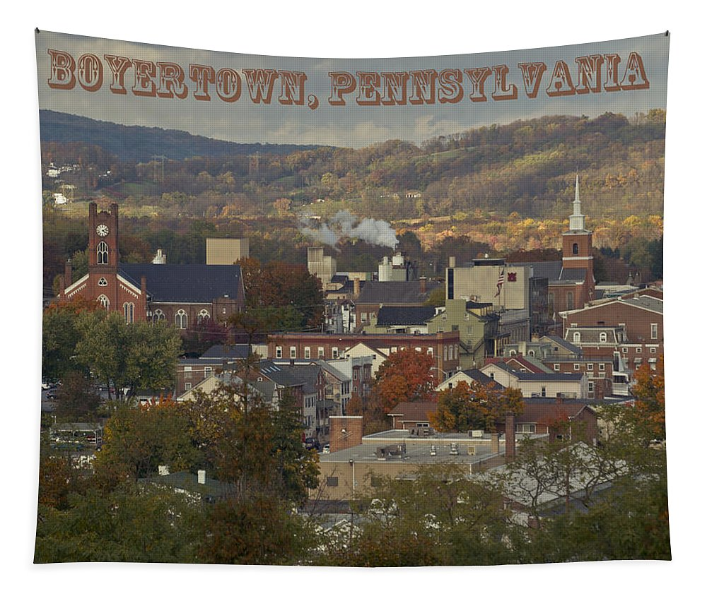 Boyertown Tapestry featuring the photograph My Town by Trish Tritz