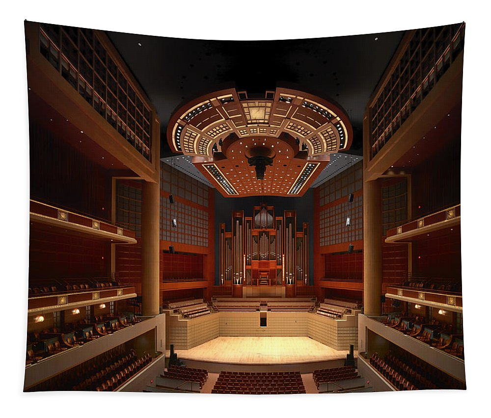 Dallas Tapestry featuring the photograph Myerson Symphony Center Auditorium - Dallas by Mountain Dreams