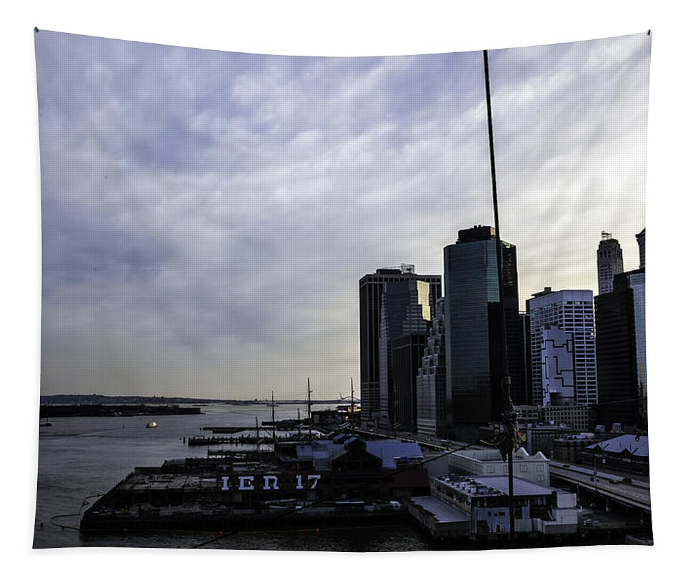 Pier 17 Tapestry featuring the photograph Mystery Of The Missing P Aka Pier 17 by Madeline Ellis