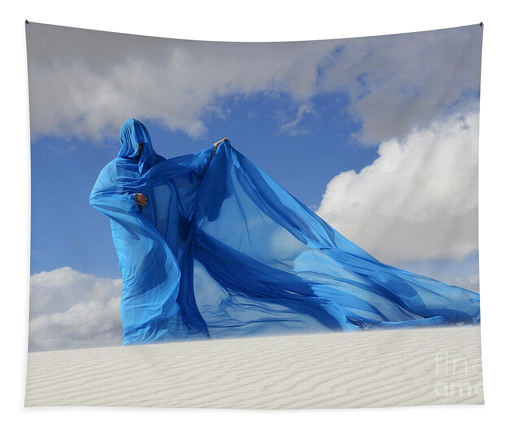 Dream Tapestry featuring the photograph Mystic Blue 9 by Bob Christopher