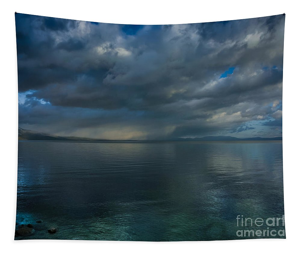 Mystic Lake Tahoe Tapestry featuring the photograph Mystic Lake Tahoe by Mitch Shindelbower