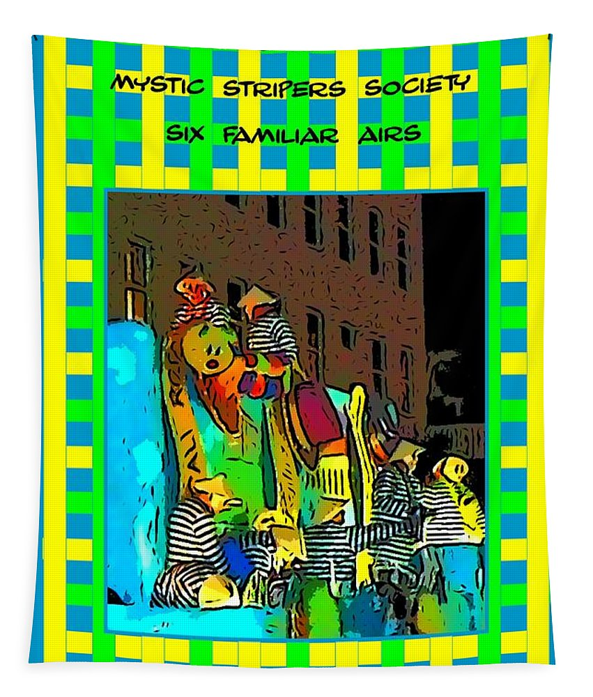 Computer Graphics Tapestry featuring the photograph Mystic Stripers - Six Familiar Airs Poster by Marian Bell
