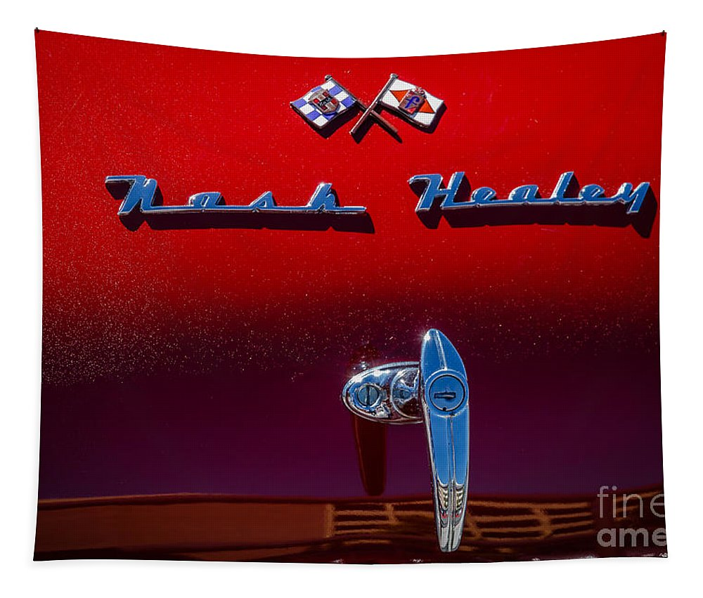 1953 Nash Healey Tapestry featuring the photograph Nash Healey by Mitch Shindelbower