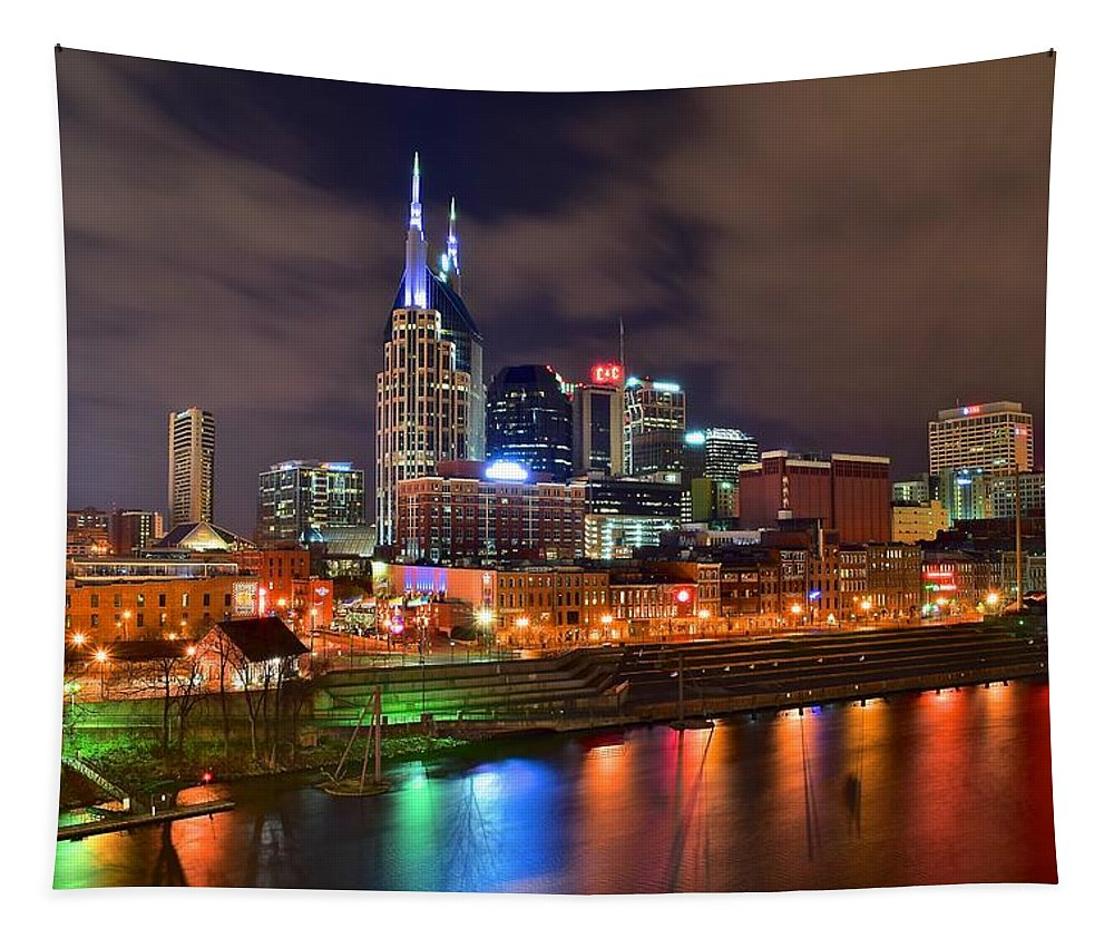 Nashville Tapestry featuring the photograph Nashville Is A Colorful Town by Frozen in Time Fine Art Photography
