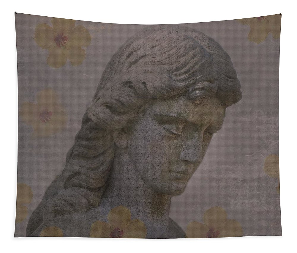 Angel Tapestry featuring the digital art Nature Is An Angels Favorite Hiding Place by David Dehner