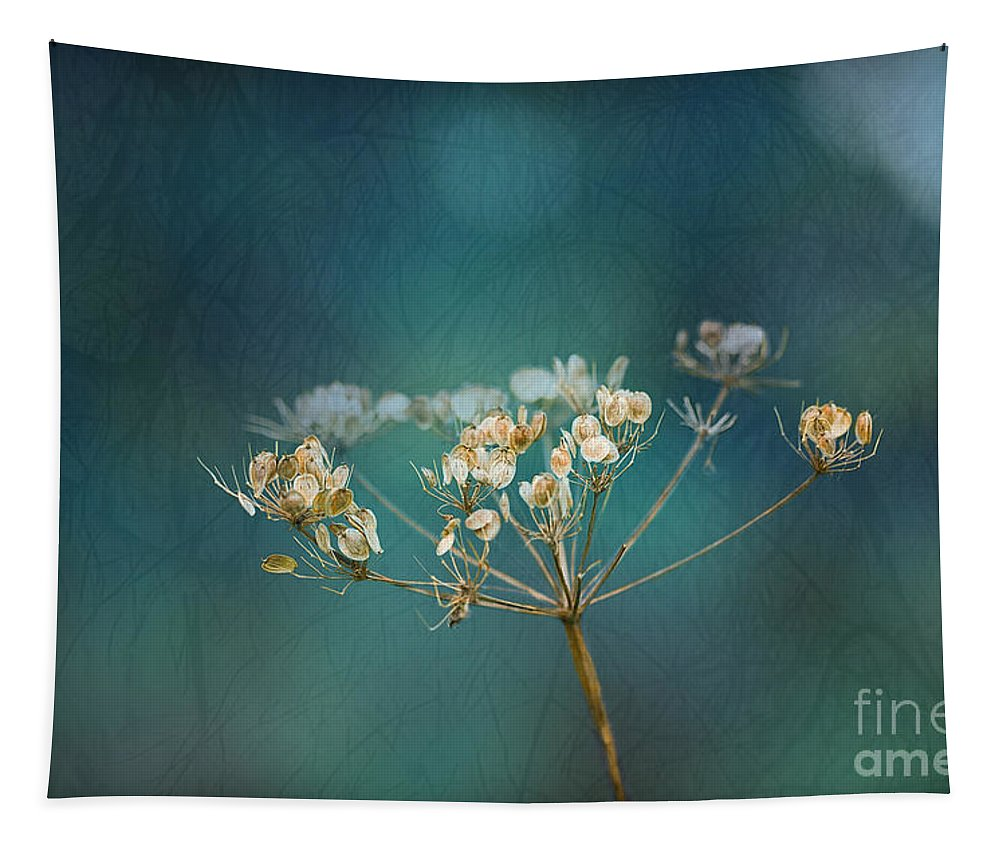 Cow Parsley Tapestry featuring the digital art Nature Is Art by Liz Alderdice