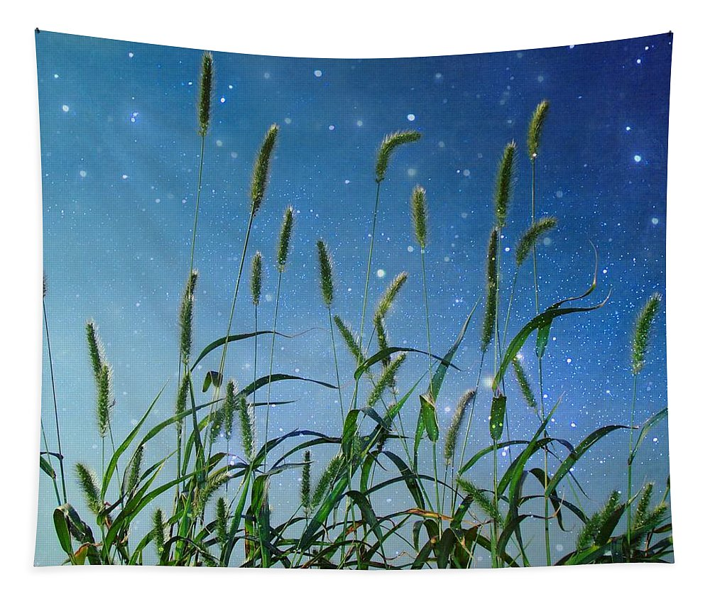 Grasses Tapestry featuring the photograph Nature Sparkles by Gothicrow Images
