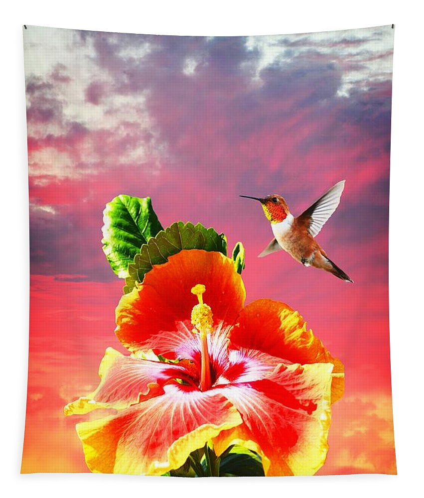 Sunset Tapestry featuring the photograph Nature's Beauties by Lynn Bauer
